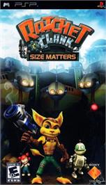 Box cover for Ratchet & Clank: Size Matters on the Sony PSP.