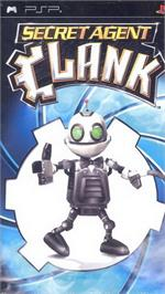 Box cover for Secret Agent Clank on the Sony PSP.