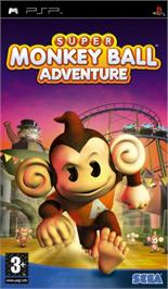 Box cover for Super Monkey Ball Adventure on the Sony PSP.