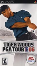 Box cover for Tiger Woods PGA Tour 6 on the Sony PSP.