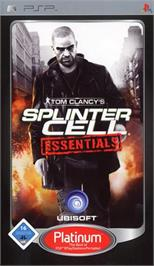 Box cover for Tom Clancy's Splinter Cell Essentials on the Sony PSP.