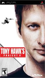 Box cover for Tony Hawk's Project 8 on the Sony PSP.