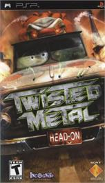 Box cover for Twisted Metal: Head-On on the Sony PSP.