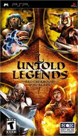 Box cover for Untold Legends: Brotherhood of the Blade on the Sony PSP.