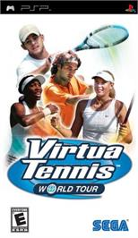 Box cover for Virtua Tennis: World Tour on the Sony PSP.