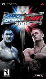 Box cover for WWE Smackdown vs. Raw 2008 on the Sony PSP.