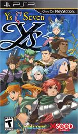 Box cover for Ys VI: The Ark of Napishtim on the Sony PSP.