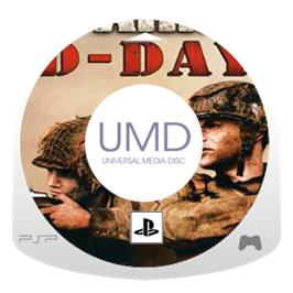 Cartridge artwork for Brothers in Arms: D-Day on the Sony PSP.