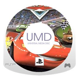 Cartridge artwork for Cars on the Sony PSP.