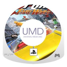 Cartridge artwork for Crazy Taxi: Fare Wars on the Sony PSP.