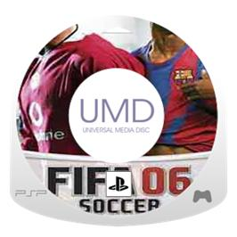 Cartridge artwork for FIFA 6 on the Sony PSP.