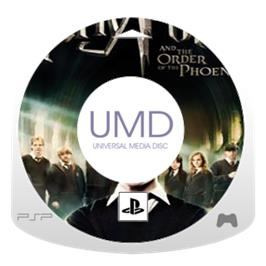 Cartridge artwork for Harry Potter and the Order of the Phoenix on the Sony PSP.