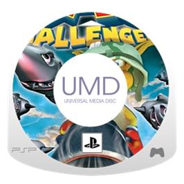 Cartridge artwork for Kao Challengers on the Sony PSP.