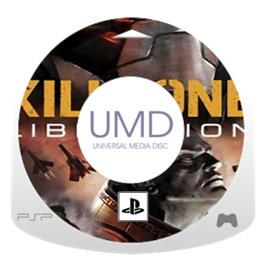 Cartridge artwork for Killzone: Liberation on the Sony PSP.