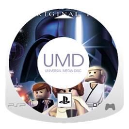 Cartridge artwork for LEGO Star Wars 2: The Original Trilogy on the Sony PSP.