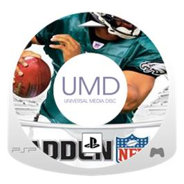 Cartridge artwork for Madden NFL 6 on the Sony PSP.