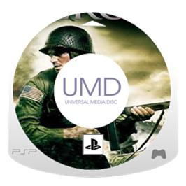 Cartridge artwork for Medal of Honor: Heroes on the Sony PSP.