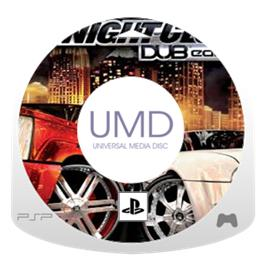 Cartridge artwork for Midnight Club 3: DUB Edition on the Sony PSP.