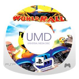 Cartridge artwork for Pac-Man World Rally on the Sony PSP.