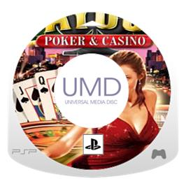 Cartridge artwork for Payout Poker & Casino on the Sony PSP.