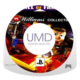 Cartridge artwork for Pinball Hall of Fame: The Gottlieb Collection on the Sony PSP.