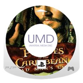 Cartridge artwork for Pirates of the Caribbean: Dead Man's Chest on the Sony PSP.