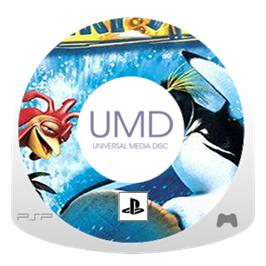 Cartridge artwork for Surf's Up on the Sony PSP.