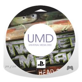 Cartridge artwork for Twisted Metal: Head-On on the Sony PSP.