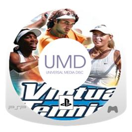 Cartridge artwork for Virtua Tennis: World Tour on the Sony PSP.