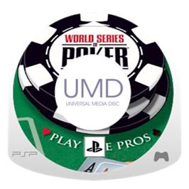 Cartridge artwork for World Series of Poker: Tournament of Champions on the Sony PSP.