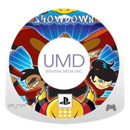 Cartridge artwork for Xiaolin Showdown on the Sony PSP.