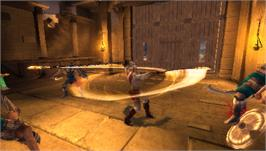 In game image of God of War: Chains of Olympus on the Sony PSP.