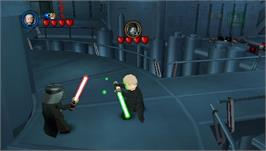 In game image of LEGO Star Wars 2: The Original Trilogy on the Sony PSP.