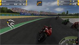 In game image of SBK-07: Superbike World Championship on the Sony PSP.