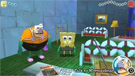 In game image of SpongeBob SquarePants: The Yellow Avenger on the Sony PSP.