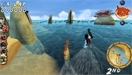 In game image of Surf's Up on the Sony PSP.