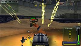 In game image of Twisted Metal: Head-On on the Sony PSP.