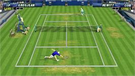 In game image of Virtua Tennis: World Tour on the Sony PSP.