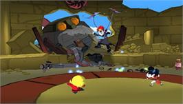 In game image of Xiaolin Showdown on the Sony PSP.