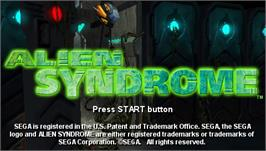 Title screen of Alien Syndrome on the Sony PSP.