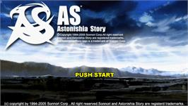 Title screen of Astonishia Story on the Sony PSP.
