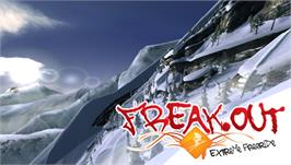 Title screen of Freak Out: Extreme Freeride on the Sony PSP.