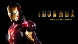 Title screen of Iron Man on the Sony PSP.