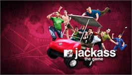Title screen of Jackass: The Game on the Sony PSP.