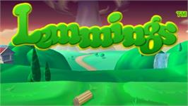 Title screen of Lemmings on the Sony PSP.