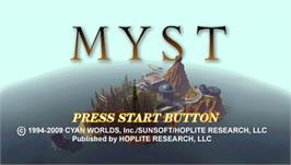 Title screen of Myst on the Sony PSP.