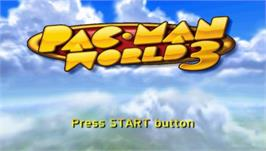 Title screen of Pac-Man World 3 on the Sony PSP.