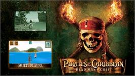 Title screen of Pirates of the Caribbean: Dead Man's Chest on the Sony PSP.