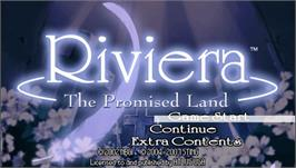Title screen of Riviera: The Promised Land on the Sony PSP.