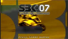 Title screen of SBK-07: Superbike World Championship on the Sony PSP.